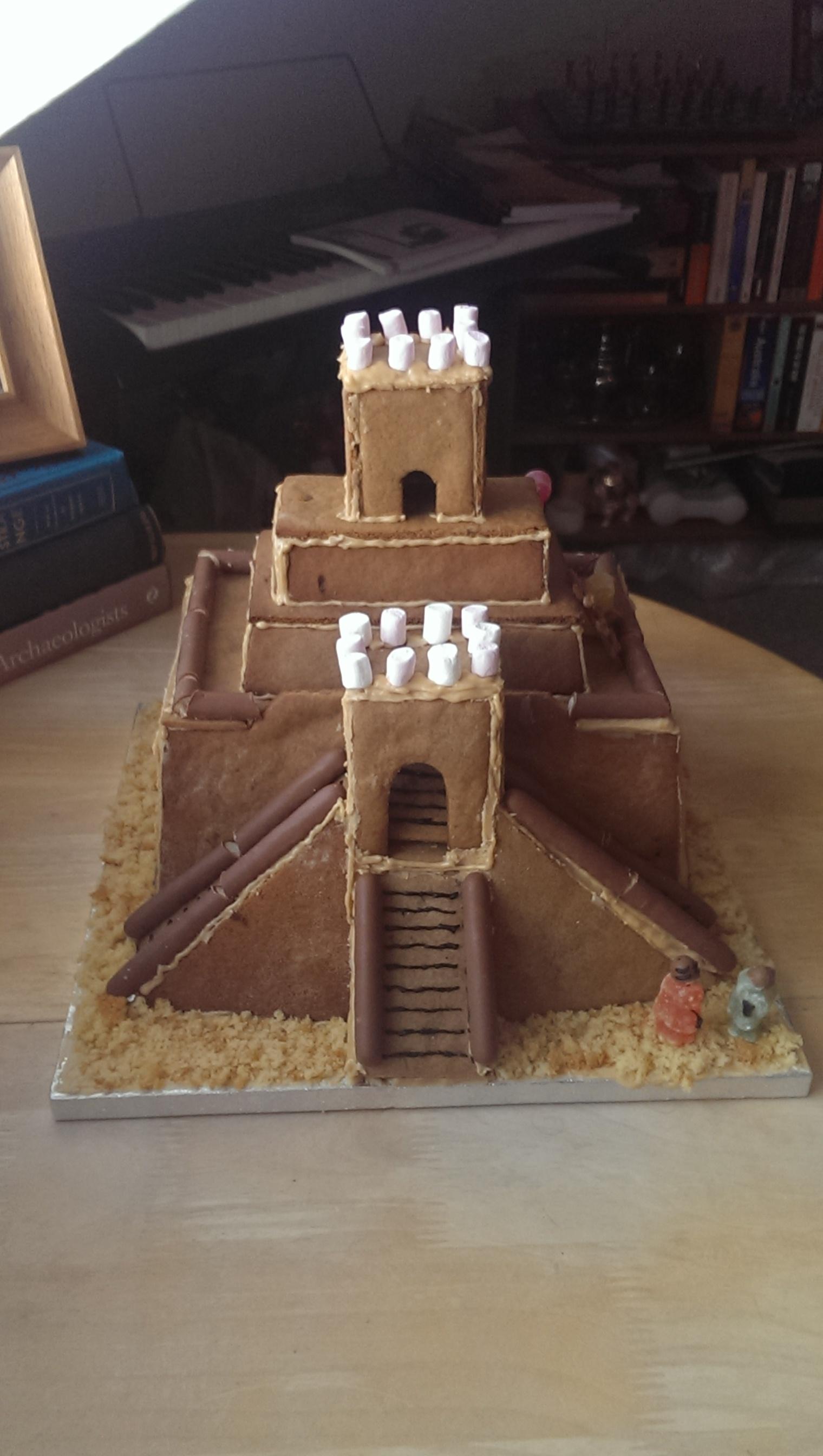 Gingerbread ziggurat | eatingartefacts